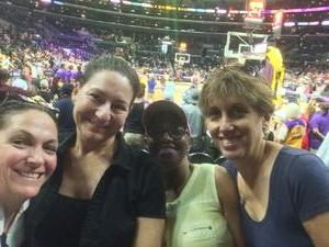 Rebecca attended Los Angeles Sparks vs. Phoenix Mercury - WNBA - Armed Services Day! on Jun 18th 2017 via VetTix