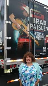 Tammy attended Brad Paisley With Special Guest Dustin Lynch, Chase Bryant, and Lindsay Ell - Reserved Seats on Jun 23rd 2017 via VetTix