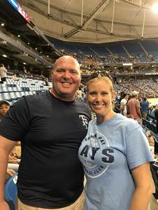 Leon attended Tampa Bay Rays vs. Baltimore Orioles - MLB - Lower Level Seating on Jul 25th 2017 via VetTix