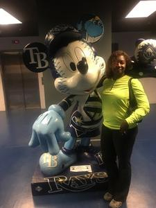 Sonia attended Tampa Bay Rays vs. Baltimore Orioles - MLB - Lower Level Seating on Jul 25th 2017 via VetTix