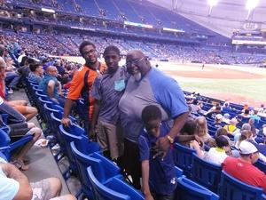 Freddie attended Tampa Bay Rays vs. Baltimore Orioles - MLB - Lower Level Seating on Jul 25th 2017 via VetTix