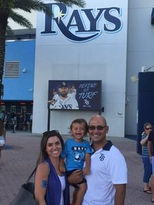Rudi attended Tampa Bay Rays vs. Baltimore Orioles - MLB - Lower Level Seating on Jul 25th 2017 via VetTix