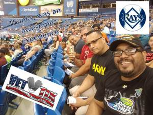 Luis attended Tampa Bay Rays vs. Baltimore Orioles - MLB - Lower Level Seating on Jul 25th 2017 via VetTix