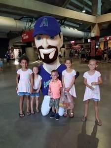 Cristina attended Arizona Diamondbacks vs. Los Angeles Dodgers - MLB on Aug 9th 2017 via VetTix