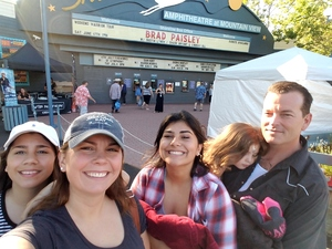 Aileen attended Brad Paisley With Special Guest Dustin Lynch, Chase Bryant, and Lindsay Ell - Lawn Seats on Jun 17th 2017 via VetTix