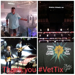 Vincent attended Daryl Hall, John Oates and Tears for Fears With a Special Acoustic Performance by Allen Stone on Jul 11th 2017 via VetTix