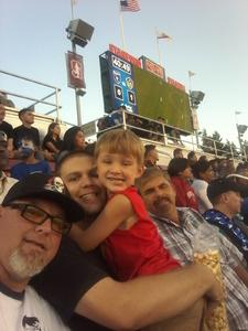 Steven attended San Jose Earthquakes vs. LA Galaxy - MLS - Salute to the Military - Giveaways & Fireworks! on Jul 1st 2017 via VetTix
