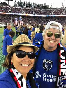 Retired CSM Cameron Porter attended San Jose Earthquakes vs. LA Galaxy - MLS - Salute to the Military - Giveaways & Fireworks! on Jul 1st 2017 via VetTix