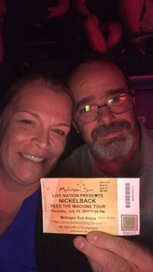Gary attended Nickelback - Feed the Machine Tour With Special Guest Daughtry and Shaman's Harvest on Jul 13th 2017 via VetTix