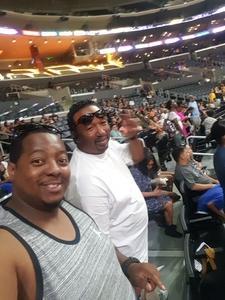 Amin attended Los Angeles Sparks vs. Dallas Wings - WNBA on Jul 30th 2017 via VetTix