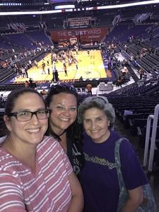 Erica attended Phoenix Mercury vs. Atlanta Dream - WNBA on Jul 12th 2017 via VetTix