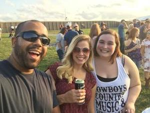 Andrew attended Brad Paisley With Special Guest Dustin Lynch, Chase Bryant, and Lindsay Ell - Lawn Seats on Aug 11th 2017 via VetTix