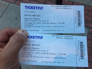 Matthew attended Aaron Watson - Live in Concert on Aug 11th 2017 via VetTix