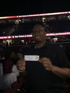 Anthony attended Earth, Wind and Fire and Chic Ft. Nile Rodgers: 2054 the Tour on Jul 29th 2017 via VetTix