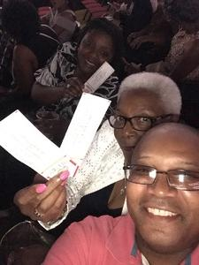 Gerald attended Earth, Wind and Fire and Chic Ft. Nile Rodgers: 2054 the Tour on Jul 29th 2017 via VetTix