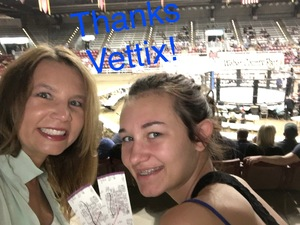 Rachel attended Jeremy Horns Elite Fight Night - Live Mixed Martial Arts - General Admission on Aug 11th 2017 via VetTix