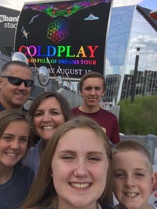 Bradley attended Coldplay: a Head Full of Dreams Tour - Live in Concert on Aug 12th 2017 via VetTix
