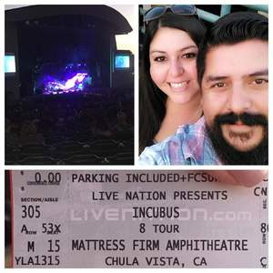 John attended 8 Tour - Incubus With Special Guests Jimmy Eat World and Judah and the Lion - Reserved Seats on Aug 11th 2017 via VetTix