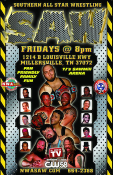 We are giving out 20 tickets to NWA Southern All Star Wrestling - Fridayon Aug 1st 2014