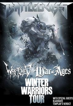 We are giving out 10 tickets to BATTLECROSS - Winter Warriors Tour at The Palladium Upstairson Dec 30th 2014