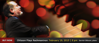 Symphonic Series: Ohlsson Plays Rachmaninov - Presented by the Eugene Symphony - Thursday Eugene, OR - Thursday, February 19th 2015 at 8:00 PM 6 tickets donated