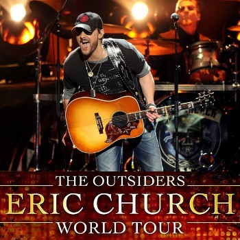 Eric Church - the Outsiders World Tour Raleigh, NC - Thursday, April 23rd 2015 at 7:30 PM 350 tickets donated