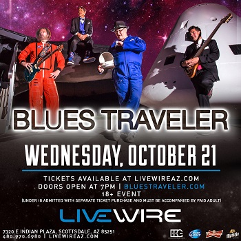 We are giving out 100 tickets to Blues Traveler The Black Moods, Matt Jaffe and The Distractions -  LIVEon Oct 21st 2015