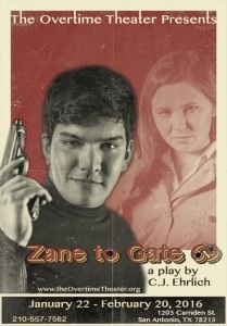 Zane to Gate 69 - Presented by the Overtime Theatre - Friday San Antonio, TX - Friday, February 12th 2016 at 8:00 PM 8 tickets donated