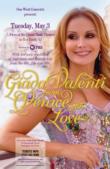 From Venice With Love - Giada Valenti Live in Concert Red Bank, NJ - Tuesday, May 3rd 2016 at 7:30 PM 100 tickets donated