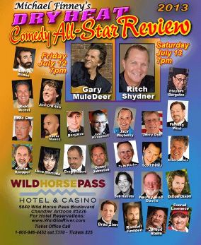 We are giving out 50 tickets to Micheal Finney's Dry Heat Comedy All-Star Review - Friday Nighton Jul 12th 2013
