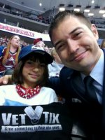 Daddy and T attended Colorado Avalanche vs Carolina Hurricanes - King Soopers HONORARY HERO OF THE GAME - NHL on Oct 25th 2013 via VetTix