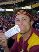 David attended #19 Arizona State Sun Devils vs Oregon State University - NCAA Football on Nov 16th 2013 via VetTix