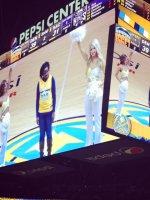 Stacia attended Denver Nuggets vs Sacramento Kings - King Soopers HONORARY HERO OF THE GAME - NBA on Feb 23rd 2014 via VetTix