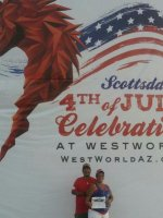 JR attended 4th of July at WestWorld celebration and fireworks show on Jul 4th 2014 via VetTix