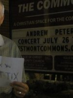 Click To Read More Feedback from Andrew Peterson - the Commons Concert Series