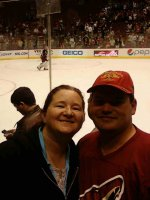 Christina and Dale attended Phoenix Coyotes vs St. Louis Blues 3/22 on Mar 22nd 2011 via VetTix