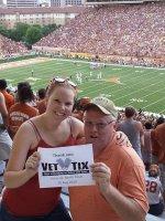 Larry attended Texas Longhorns vs North Texas - NCAA Football on Aug 30th 2014 via VetTix