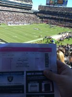 Joseph attended Oakland Raiders vs San Diego Chargers - NFL on Oct 12th 2014 via VetTix