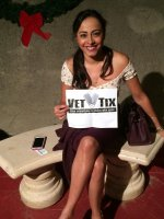 Rosa attended Colin Mochrie & Brad Sheerwood (From Whose Line Is It Anyway?) on Dec 5th 2014 via VetTix