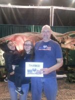 Andrew attended Discover the Dinosaurs - Saturday on Dec 20th 2014 via VetTix
