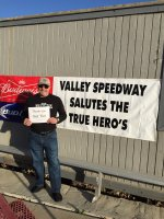 MSgt Bill attended Valley Speedway Races on Apr 4th 2015 via VetTix