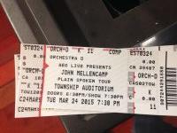 brian attended John Mellencamp - Plain Spoken Tour on Mar 24th 2015 via VetTix