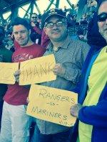 Douglas attended Seattle Mariners vs. Texas Rangers - MLB on Apr 19th 2015 via VetTix