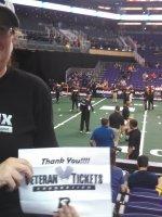 Kristina attended World Champion Arizona Rattlers vs. Portland Shock - Arena Football on Apr 18th 2015 via VetTix