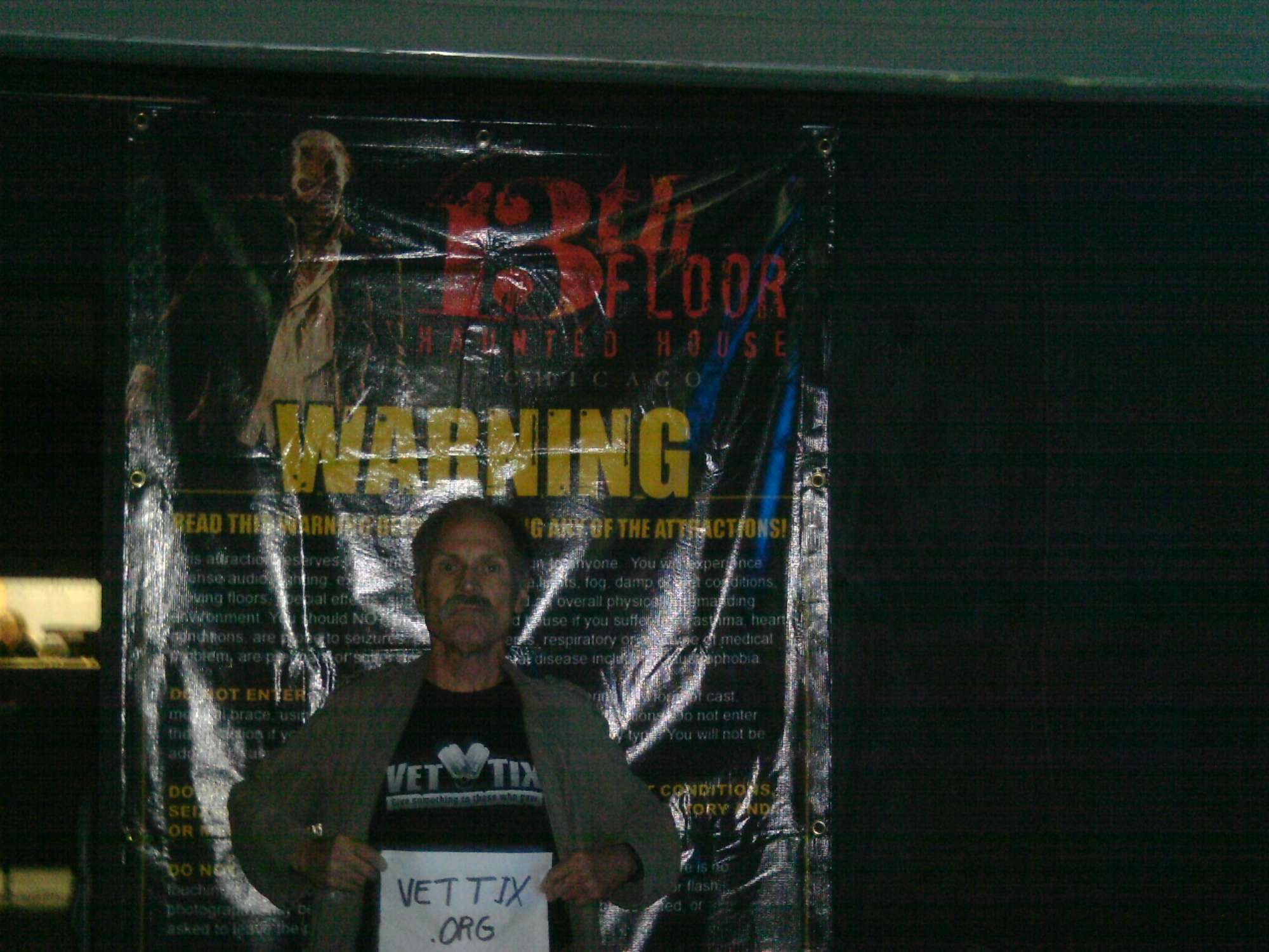 Captivating Larry Attended 13th Floor Fast Pass   Largest Haunted House In Chicago    Tickets Only Good