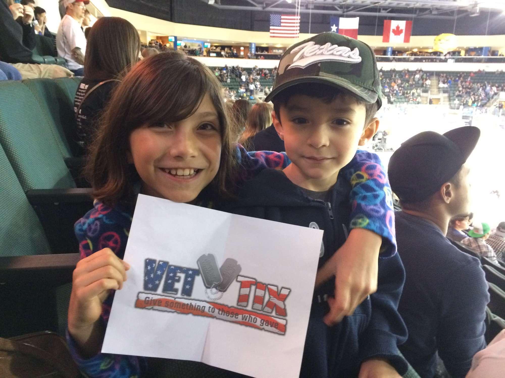 Adrian Attended Texas Stars Vs San Antonio Rampage Military Appreciation Night American Hockey