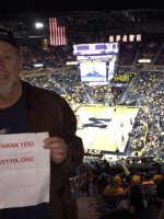 Gregory attended University of Michigan Wolverines vs. Youngstown State - NCAA Men's Basketball on Dec 19th 2015 via VetTix