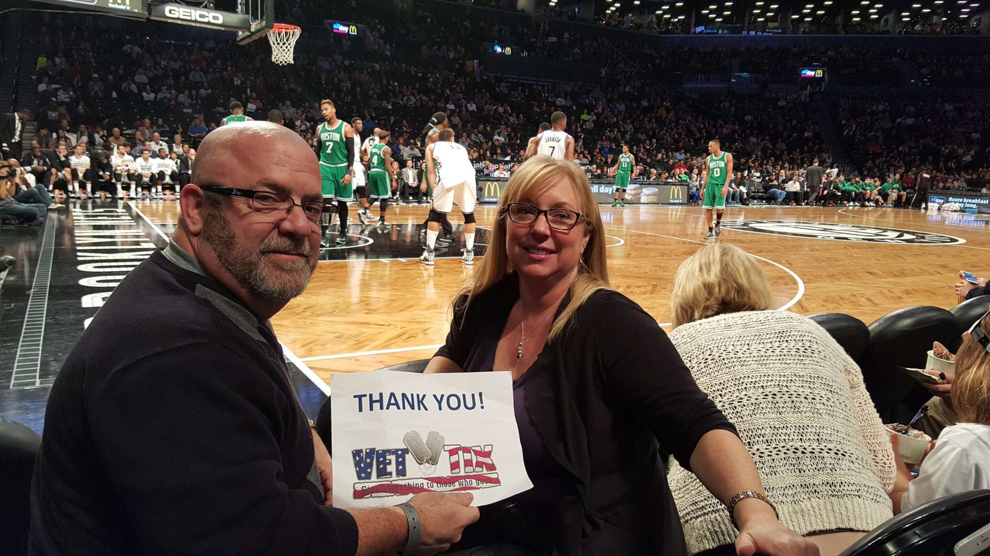 Joseph Attended Brooklyn Nets Vs Boston Celtics Nba Floor Seats On Nov 22nd