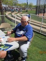 Ted U.S.M.C. Vet attended Los Angeles Dodgers vs Oakland Athletics (Spring Training) 3/08 on Mar 8th 2012 via VetTix
