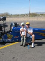 David attended NHRA Division 7 Double Header @ Firebird International Raceway 2/26...SUNDAY!! on Feb 26th 2012 via VetTix